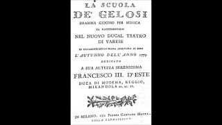Antonio Salieri: La Scuola de' gelosi - Sinfonia
