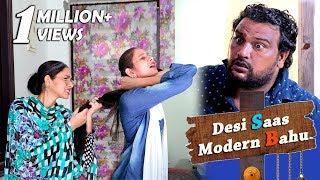 Desi Saas/Modern Bahu | Full Entertainment | Fe | Firoj Chaudhary | Comedy 2018