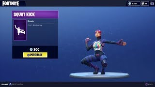 "NEW ""SQUAT KICK"" DANCE EMOTE - Fortnite Battle Royale"