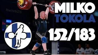 Milko Tokola (85) - 152kg Snatch + 183kg Clean and Jerk