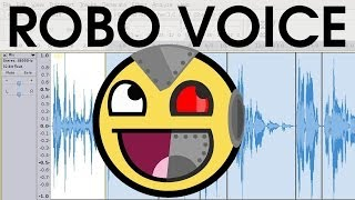 DIY Vocoder Robotic Computer Voice Effect EASY SHORT Audacity Tutorial