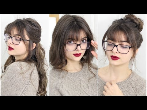 Hairstyles For Bangs Gles