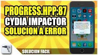 Solucionar error 87 Cydia impactor | Error progres.hpp:87