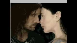 LOTR - Lord of the Rings Aragorn and Arwen Speed Painting
