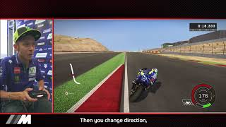 Rossi races with MotoGP™17 in Aragón – follow a lap with the legend width=