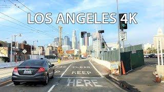 Driving Downtown - LA's Skyline - Los Angeles California USA