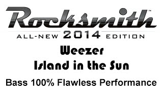 "Weezer ""Island in the Sun"" Rocksmith 2014 bass 100% pick"