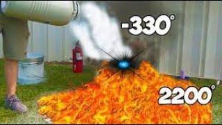 World's Hottest Substance Vs Coldest Substance