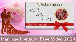 Wedding Invitation Free Video 2020 #1 || Marriage Invitation video Free Green Screen ||