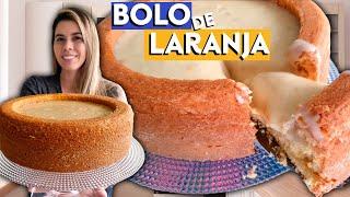 BOLO DE LARANJA COM CASCA E COBERTURA NO LIQUIDIFICADOR