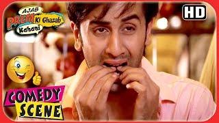 Ajab Prem Ki Ghazab Kahani - Ranbir First Encounter With Non-Veg - Ranbir Katrina Comedy Scene