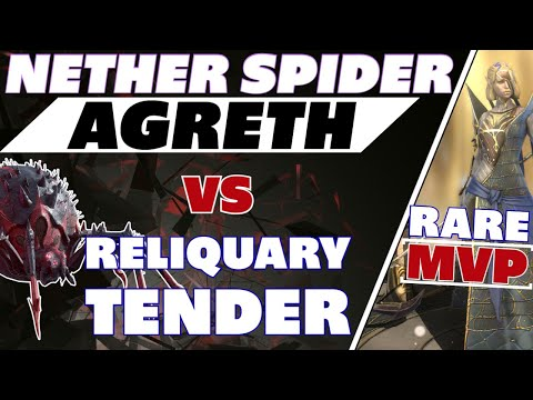 Agreth Nether Spider vs Reliquary Tender MVP rare Raid Shadow Legends Doom Tower boss Agreth Nether