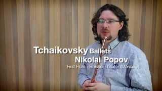 "Tchaikovsky Ballets ""Nutkracker, Swan Lake and Sleeping Beauty"" Flute solos"