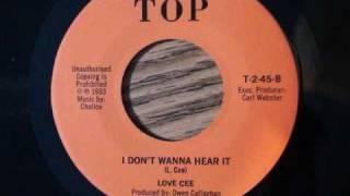 """I DON'T WANNA HEAR IT"" by LOVE CEE (reggae)"
