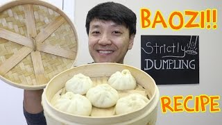 EASY DELICIOUS Chinese Pork Bun Recipe (Baozi 包子) width=