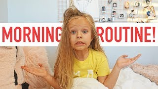 PEYTON'S SCHOOL MORNING ROUTINE!
