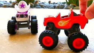 Toy Trucks Slow Motion WATER SPORTS - Blaze Starla Monster Machines Kids Videos Toy Car Videos