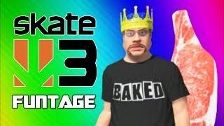 Skate 3 Funny Moments 4 - Meat Man, Hawaiian Dream, Skate King, Onion Wing (Funtage)