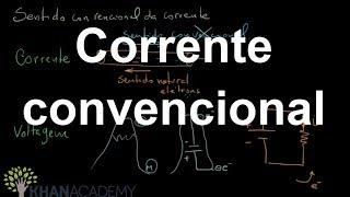 Corrente convencional | Engenharia Eletrica | Khan Academy