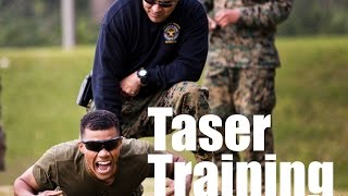 STUNNING VIDEO -Marine Police Officers Get Tasered By Stun Guns!