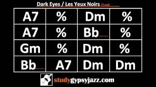 Gypsy Jazz Backing Track / Play Along -  Dark Eyes (Les Yeux Noirs) - Fast