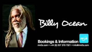 Billy Ocean - Available for Live PA bookings worldwide