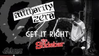 Authority Zero - Get It Right (live @ Slidebar Cafe)