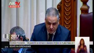 25-11-2016 | Debate na Especialidade - Orçamento do Estado para 2017 | Jorge Seguro Sanches