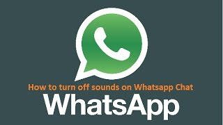 How to turn off Whatsapp Chat Sounds on Web