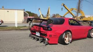 Rocket bunny fd burnout and launch  rx7 bridge port Angel Motorsports