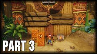 Crash Bandicoot 1 (N. Sane Trilogy) - 100% Walkthrough Part 3 [PS4] – The Great Gate