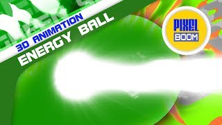 Green Screen Onda Kamehameha Energy Ball - PixelBoom Animations
