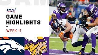 Broncos vs. Vikings Week 11 Highlights   NFL 2019