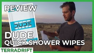 Review: DUDE Quick Shower Body Wipes - Do They REALLY Do The Job?