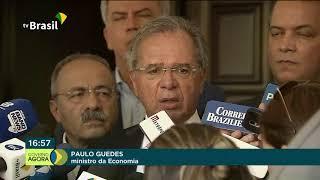 Paulo Guedes discute Nova Previdência e pacto federativo com presidente do Senado