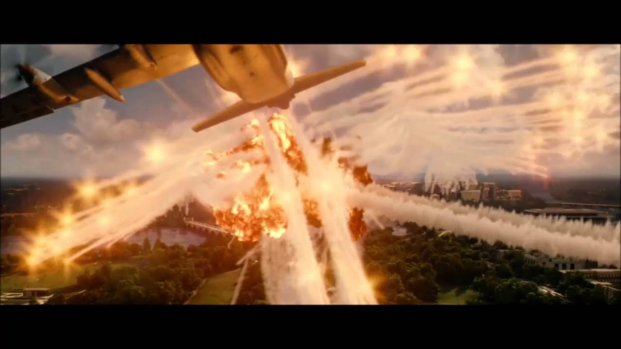 AC-130 Attacks Washington D.C. Scene  - Olympus Has Fallen 2013
