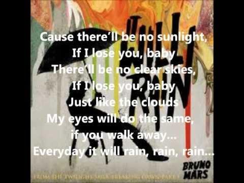 Bruno Mars - It Will Rain (Lyrics) Acordes - Chordify