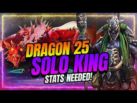 📊STAT REQUIREMENTS to Solo Dragon 25 w/ Urogrim! | RAID Shadow Legends