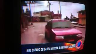 Mario Velasquez Y jorge Barbosa denucian Mal estado de la malla Vial del Rocio Y laches.