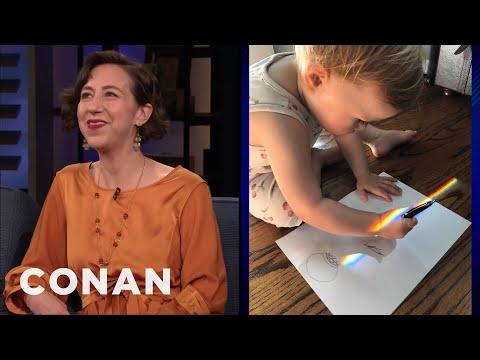 Kristen Schaal's Daughter Is Not A Kristen Schaal Fan - CONAN on TBS
