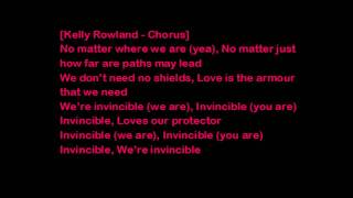 Tinie Tempah ft Kelly Rowland Invincible ( Lyrics on screen)
