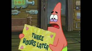 "SpongeBob all time cards part 5 ""Three hours later"""