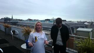 Tom Meighan (Kasabian) & Claire Beck (TXFM) share the Ice Bucket Challenge