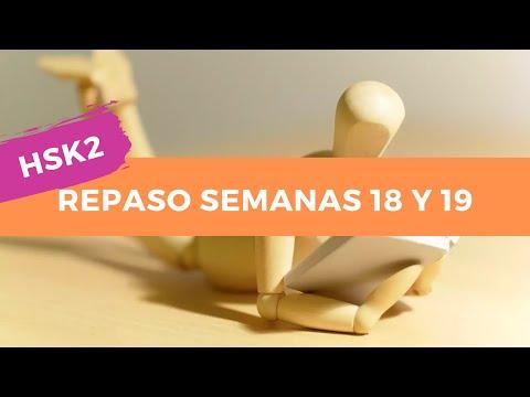 HSK2 Calendario Estudio Chino Nivel Básico - Repaso Semanas 18 y 19