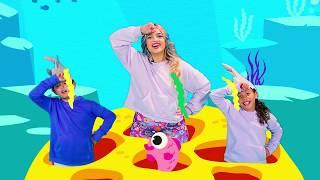 🐠 BABY SHARK ( BEBÊ TUBARÃO ) em PORTUGUÊS - Versão Oficial | Cante e Dance | Músicas pra Crianças
