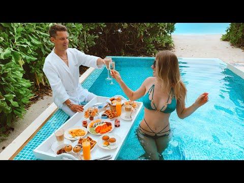 Мальдивы Райский Завтрак На Воде. Сюрприз Для Мужа.