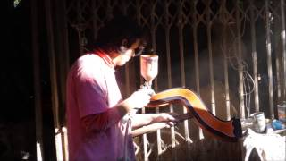 Creating a Paraguayan Harp in Luque, Paraguay (2014).
