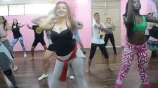 Aula de Reggaeton no Brasil - ''Ginza - J Balvin Ft Anitta'' - Dembow Dance Iniciante