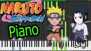 "Naruto Shippuden-Opening 3: ""Blue Bird"" Synthesia Piano-HD-Letra Y Midi!!!"