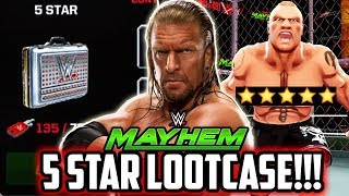 WWE MAYHEM NEW 5 STAR LOOTCASE OUT NOW! HOW TO GET 5 STAR SUPERSTARS/KEYS!!!